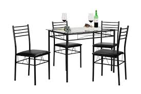 ebay dining room set vecelo glass dining table set with 4 chairs brown ebay
