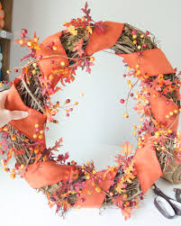 How To Make Halloween Wreath Craftaholics Anonymous Diy Fall Wreath With Monogram Pumpkin