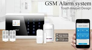 ios android app wireless gsm and pstn sms home house alarm system