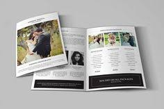 square trifold photography brochure template wedding photography