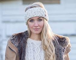 knitted headbands knit headbands etsy