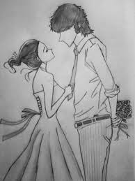 couple sketch discovered by shilah mariee on we heart it