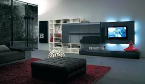built in tv wall small tv stand modernethniclivingroomwithsmalltvstandandtwostorage