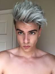 coupe de cheveux homme fris les jeunes hommes aussi succombent aux cheveux gris la preuve en