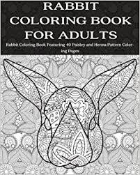 amazon rabbit coloring book adults rabbit coloring book