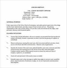 security guard job description security director job description