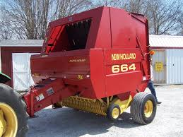 new holland 664 round baler size up to 5x6 can ship 1 85