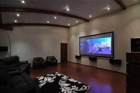 Cinema Room Three Story Home Mumbai India by ZZ Architects