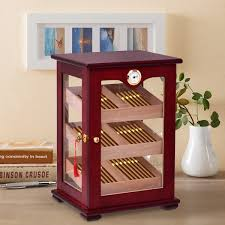 used cigar humidor cabinet for sale costway countertop display humidor 150 cigars storage cabinet