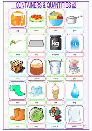 18 free esl quantities worksheets