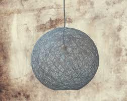 brown string shadow lamp pendant light globe pendant lamp