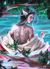 the with the tattooed back by jennyshiii on deviantart