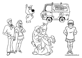 coloring pages scooby doo free printable scoo doo coloring