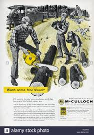 ad chain saw 1954 namerican advertisement for mcculloch chain