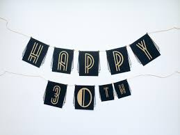 party banner diy roaring 20s birthday or new years party banner salty