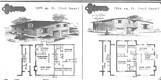 Split Ranch House Plans 4 Ranch House Floor Plans With Garage Country 1960s 19 Planskill
