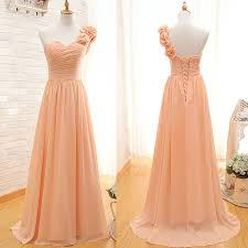 one shoulder bridesmaid gown pretty prom dresses chiffon prom gown