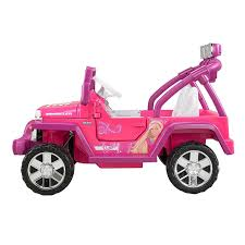 fisher price power wheels barbie deluxe jammin jeep wrangler ride