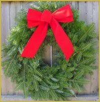 wreath balsam wreath undecorated
