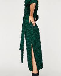midi dress with fringe midi dresses woman zara united states