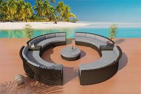 Circle Patio Furniture by Patio Furniture Cassandra Colloseum Round Outdoor Wicker Sectional