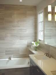 tiled bathrooms designs oversized grey tiles to make bathroom space feel larger