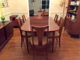 mid century modern dining table set mid century modern walnut dining set by broyhill emphasis epoch