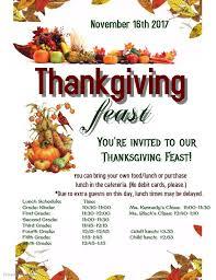 thanksgiving feast ellis elementary