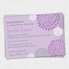 baby shower invitation printable purple and lavender with