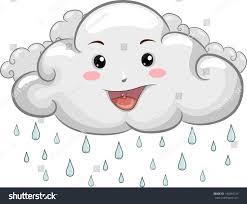 illustration happy cloud mascot raindrops stock vector 142893124