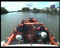 thames river boats dogs see rnli rescue frightened dogs from river thames get west london