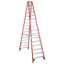 werner 16 ft fiberglass twin step ladder with 300 lb