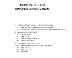 reset canon ip2770 blinking canon ip2700 ip2770 ip2780 printers simplified service manual and