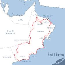 map of oman and uae the oman trail lost curious
