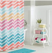 Kitchen And Bath Curtains by Bathroom Amazing Chevron Sets With Shower Curtain And Rugs Bath