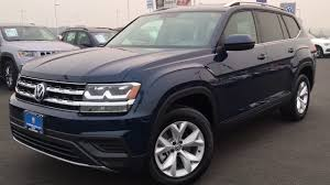 atlas volkswagen price 2018 volkswagen atlas s tourmaline blue youtube