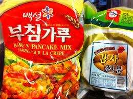 Pancake Flour Kimchi Jeon U0026 Boochu Jeon 김치전 U0026 부추전 Kimchi Pancakes And