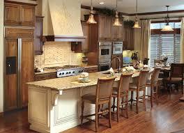 Custom Kitchen Faucet Amazing Dark Brown Oak Wood Custom Kitchen Cabinets Gas Range