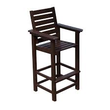 Wood Bar Chairs Brown Painted Pine Wood Bar Stool With Ladder Backrest Of Stunning