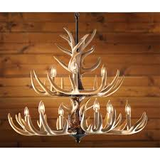 rustic 9 light antler chandelier save big at www sportsmansguide