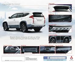 mitsubishi montero 2017 mitsubishi motors philippines offers line of genuine accessories