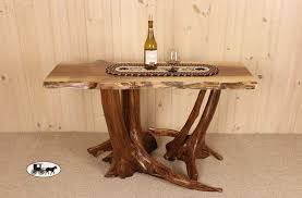Driftwood Sofa Table by Stump Base Sofa Table The Wood Carte Real Wood Furniture