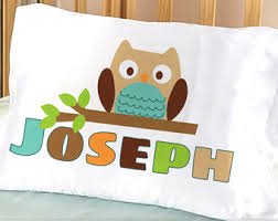 personalized pillows for baby kids pillowcase etsy