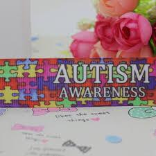 grosgrain ribbon wholesale duwes new 7 8 free shipping autism awareness printed grosgrain