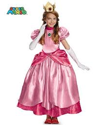 Mario Princess Peach Halloween Costume Disguise Nintendo Super Mario Brothers Princess Peach Prestige