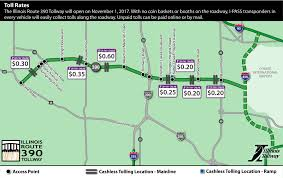 Chicago Toll Roads Map by Illinois Route 390 Project Illinois Tollway