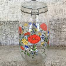 vintage glass canisters kitchen best vintage glass canisters products on wanelo