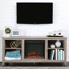 home decor entertainment units with fireplace edison bulb