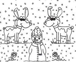 rudolph reindeer coloring pages free printable christmas deer