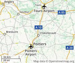map of poitiers cheap flights to poitiers euroflights info